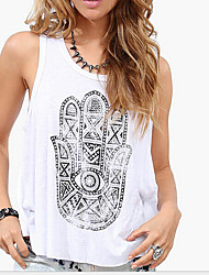 Dames Eenvoudig T-shirt,Uitgaan Effen Diepe U-hals Mouwloos Zijde