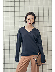 CimiiY to Zhang Xi spring new Korean version of the back line of bandwidth loose casual female long-sleeved sweater hedging