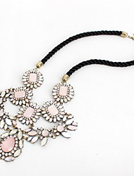 Women's Statement Necklaces Jewelry Gemstone Gem Alloy Single Strand Flower Style Natural Personalized Euramerican Pink JewelryParty