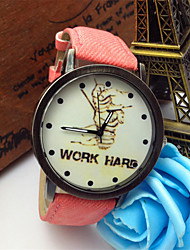 Fashion Watch Quartz Fabric Band Charm Casual Word Watch Black White Blue Red Green Pink Yellow