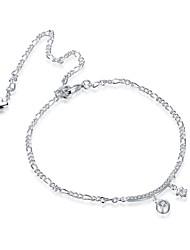 Bracelet de cheville/Bracelet Zircon Plaqué argent Alliage Naturel Amitié Mode Vintage Bohême Style Punk Hip-Hop Turc Simple Style Amour