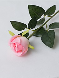 """20""""L Set of 2 Queen Rose Silk Cloth Flowers Pink"""