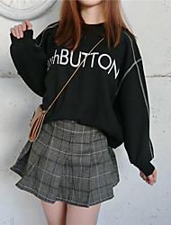 unterzeichnen Buchstaben gedruckt im Herbst und Winter Wolle Nähen Hälfte hohen Kragen lässig warme Kaschmir-Pullover weibliche Pullover