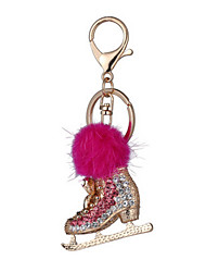 Key Chain Key Chain Toys Chic & Modern Creative Leisure Hobby Red Metal Plush