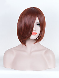 Fashion Straight Brown Color Synthetic Wigs