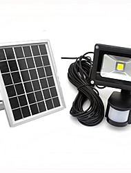 10w levou sensor de movimento IP65 holofote arrefecer / cor quente ao ar livre holofote solar, pir impermeável reflector levou painel