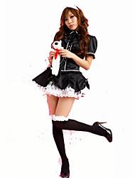 Costumes de Cosplay Tenus de Servante Fête / Célébration Déguisement d'Halloween Noir Couleur Pleine Carnaval Féminin Satin élastique