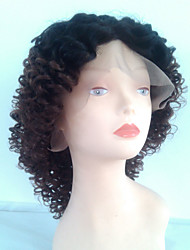 Short Kinky Curly Hair Wigs #6/27 Chestnut Brown Ombre Lace Front Wigs Medium Lace Wig For Black Woman Curly Wave Hair Wholesale