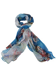 Silk Scarf,Vintage / Casual RectanglePrint