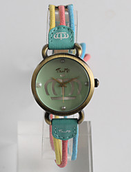 Fashion Watch Quartz / Fabric Band Vintage Casual Green Multi-Colored Brand