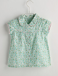 Baby Casual/Daily Floral Shirt-Cotton-Summer-