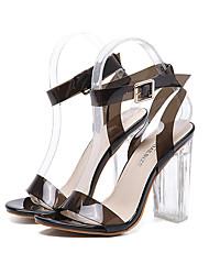 Damen-High Heels-Kleid Party & Festivität-Silica Gel-Blockabsatz-Komfort-Schwarz Rosa Mandelfarben
