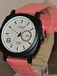 Fashion Watch Quartz Silicone Band White Blue Red