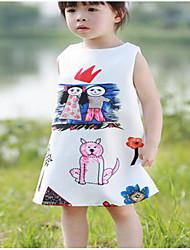 Girl's Beach Rainbow Dress,Cotton Summer Sleeveless