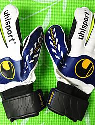 Спортивные перчатки Полный палец Все Анти-скольжение Износостойкий Футбол Хлопок Кожа Желтый Зелёный Красный