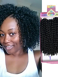 Freetress Crochet kinky curly hair extension Latch Hook crochet Braid Brazilian Curl Freetress Braids 3pieces/pack Deep Curly Pre Looped Hair 10inch