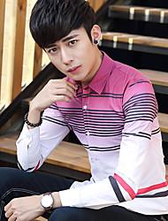 2017 весной прилив мужчин&# 39; S рубашку с длинными рукавами мужчин&# 39, S полосатой рубашки молодые студенты градиента дюйма