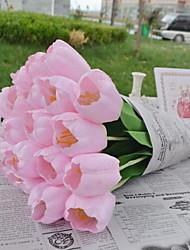 1 Ramo Plástico Tulipas Flor de Mesa Flores artificiais