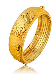 24K Imitation Gold Wedding Dragon Bracelet