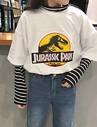 знак динозавр напечатанный вокруг шеи футболку хеджирование