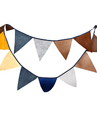 2.8m 12 Flags Coffee Banner Pennant Nonwoven Fabric Bunting Banner Booth Props Photobooth Birthday Wedding Party Decoration