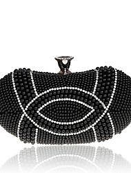 L.west Women's fashion pearl Dinner Bag