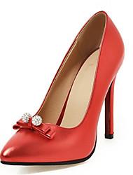 Mariage Bureau & Travail Soirée & Evénement-Noir Rose Rouge Argent-Talon Aiguille-club de Chaussures-Chaussures à Talons-Cuir Verni