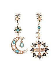 Crystal Star Sun Drop Earrings Jewelry Party Daily Casual Crystal Alloy 1 pair Multi Color