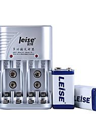 leise 802 9v níquel bateria de metal pacote 280mAh dois