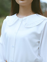 Model real shot, the price is not less than 512 017 spring new doll collar long-sleeved chiffon shirt