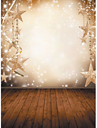 1,5 x 2,1 m de estrellas de copo de nieve de fondo de vinilo tela photography Navidad de fantasía