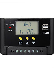20a 12V 24V LCD-Solarregler Batterieladeregler Dual USB Timer-Steuerung