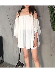 Ли Ювей новые свободные летние каникулы ветер ультра центов над США の белый без бретелек шифон рубашки строп слова