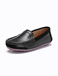 Kid's Loafers & Slip-Ons Spring Summer Fall Moccasin Patent Leather Outdoor Athletic Dress Casual Flat Heel Split Joint Black Blue White