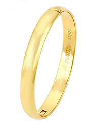 24K Imitation Gold Wedding Smooth Bracelet
