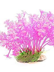 Aquarium Decoration Waterplant Non-toxic & Tasteless Plastic Red Pink Orange