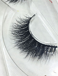 Eyelashes 3D mink Full Strip Lashes Eyes Thick Lifted lashes  Handmade Animal wool eyelash Black Band  M05