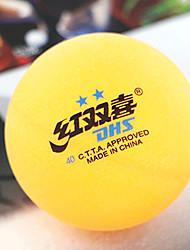 1 Peça 2 Estrelas 8 Ping Pang/Bola de Ténis de Mesa Amarelo Branco Interior Espetáculo Praticar Esportes de Lazer