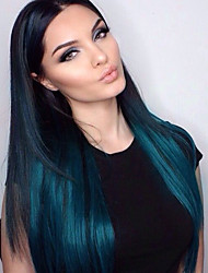 T1B Blue Silky Straight Virgin Human Hair Wigs Wholesale Glueless Full Lace Wigs With Baby Hair Medium Brown Lace Cap