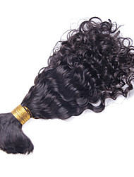 Mongolian Curly Human Braiding Hair Bulk Curly Human Hair For Braiding Bulk No Attachment 10inch-26inch