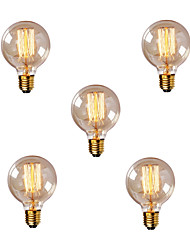 5pcs G80 марочных Эдисона лампы накаливания лампочки e27 40w лампочка 220-240 лампы накаливания