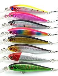 Lot 8 Pcs 3D Lifelike Eyes Fishing Minnow Lures 8 Colors 10.1cm 9.36g High Quality Artficial Plastic Wobbler Hard Bait