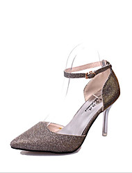 Mujer Tacones Paseo Confort Zapatos del club Purpurina PU Primavera Verano Otoño Invierno Boda Casual Vestido Fiesta y Noche HebillaTacón