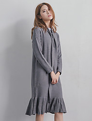 Model real shot 2017 spring new dress very comfortable material