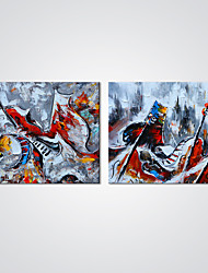Canvas Prints Abstract Painting Music Picture Canvas Art 2pcs/set for Bedroom Decoration Ready to Hang