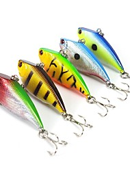 Lot 5 Pcs Hard Bait Vibration/VIB Assorted Colors 7.5 g 55 mm Hard Plastic Fishing Lures