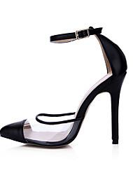 Sandals Summer Club Shoes PU Wedding Party & Evening Dress Black