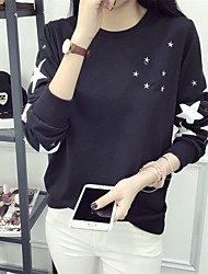 2017 spring new Women Sign embroidered five-pointed star loose sweater coat thin section sweater Spot