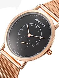 Modeuhr Armbanduhr Quartz Legierung Rose Gold überzogen Band Gold