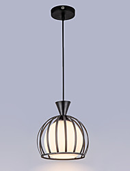 1PC E27 The Led Glass Round Rural Contemporary And Contracted Restaurant Droplight Pendant Light